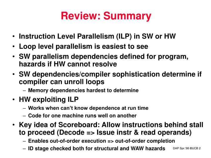 Review: Summary