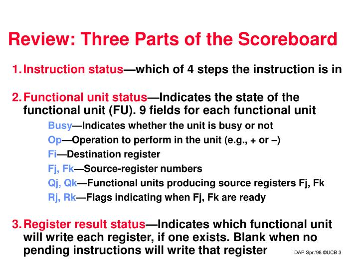 Review: Three Parts of the Scoreboard