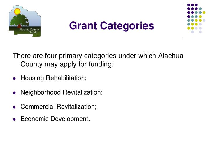 Grant Categories