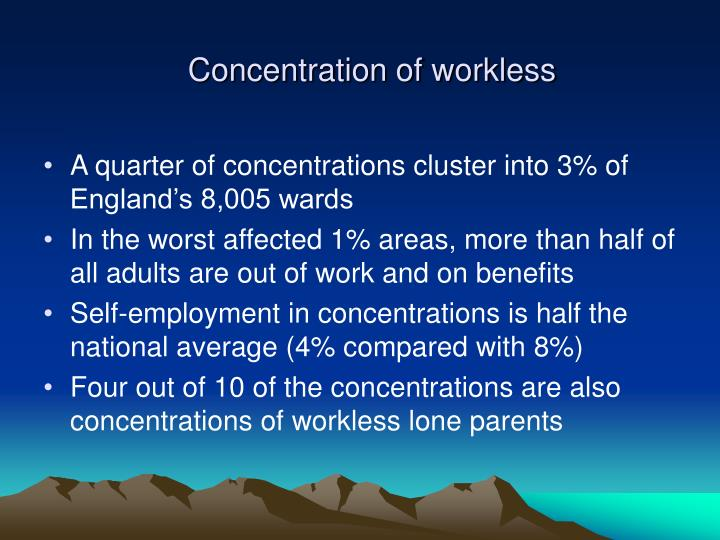 Concentration of workless