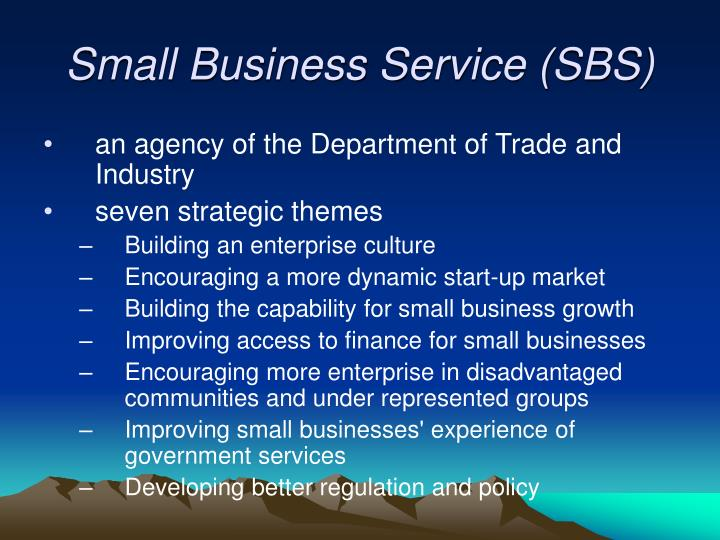 Small Business Service (SBS)