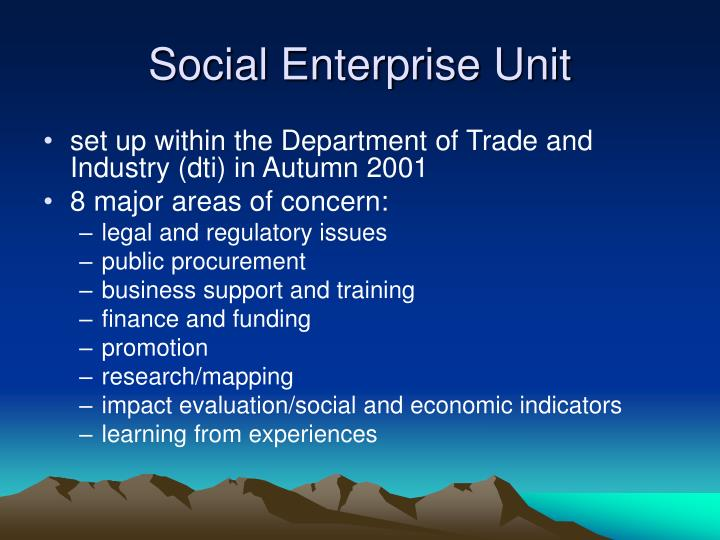 Social Enterprise Unit