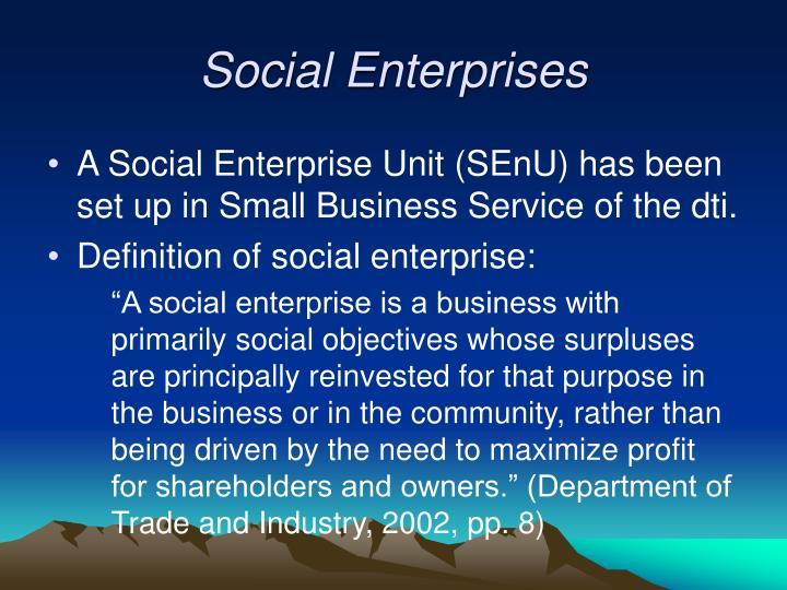 Social Enterprises