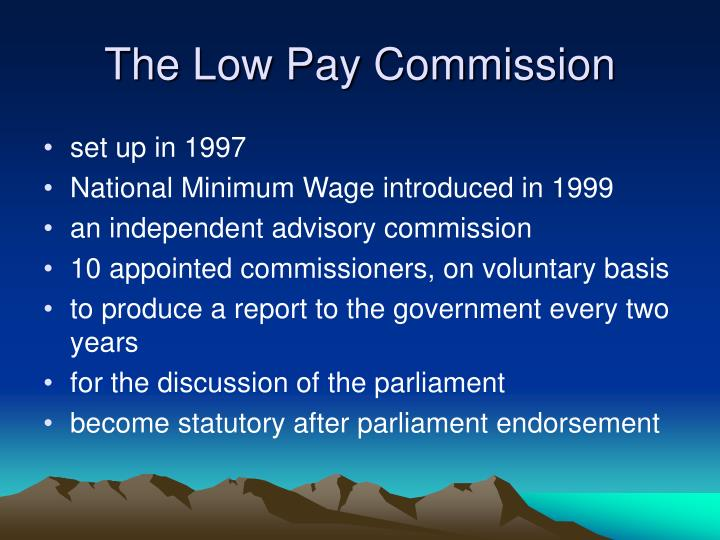 The Low Pay Commission