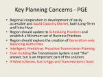 key planning concerns pge