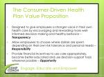 the consumer driven health plan value proposition