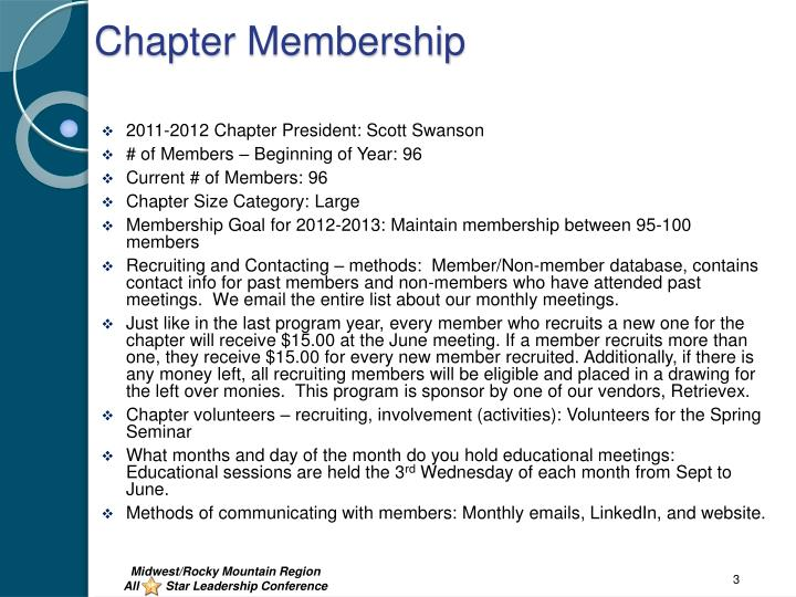 Chapter Membership