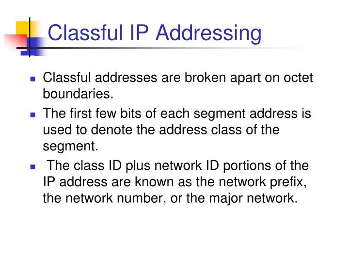 Classful ip addressing1