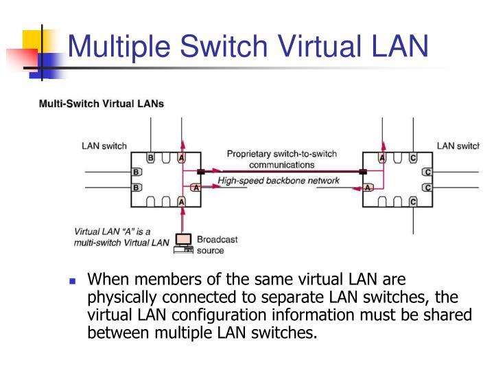 Multiple Switch Virtual LAN