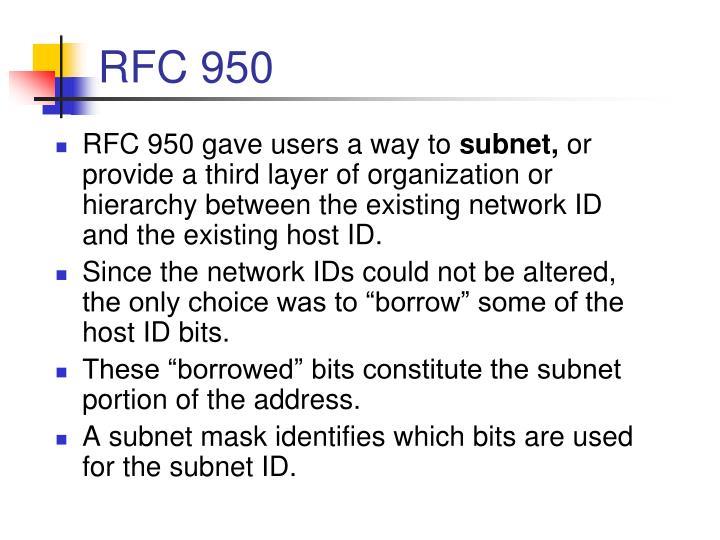 RFC 950