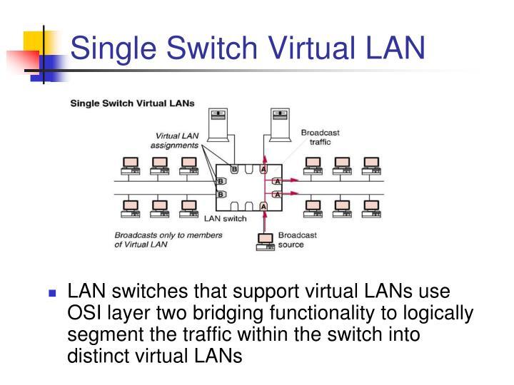 Single Switch Virtual LAN