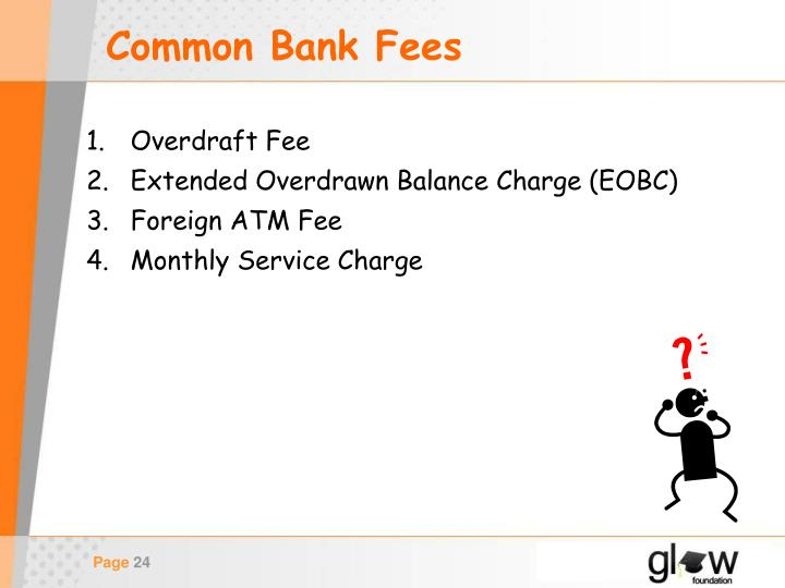 Common Bank Fees