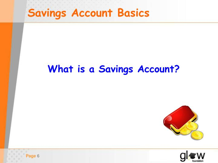 Savings Account Basics