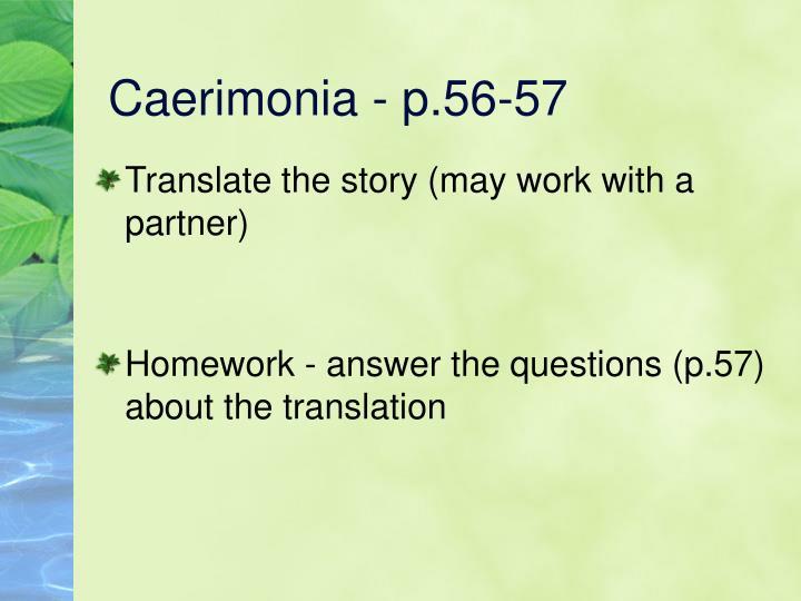 Caerimonia - p.56-57
