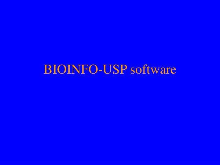 BIOINFO-USP software