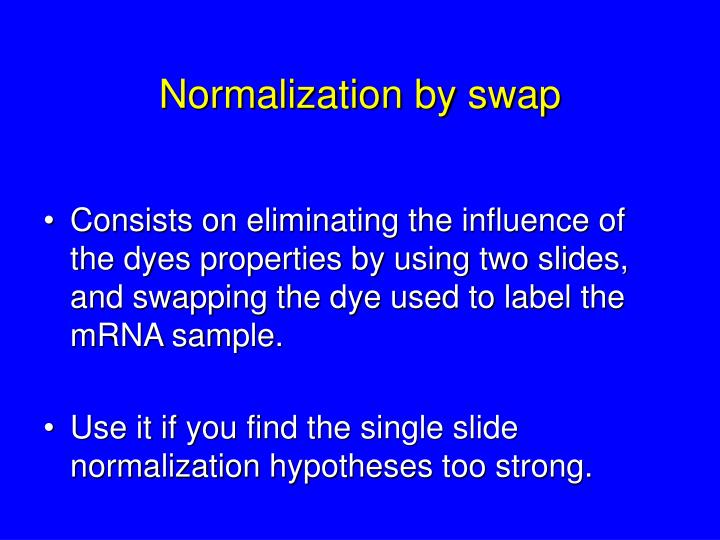 Normalization by swap