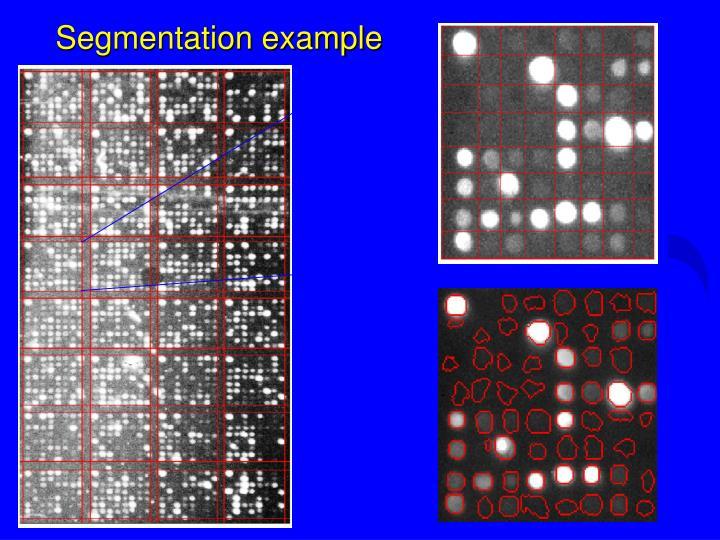 Segmentation example
