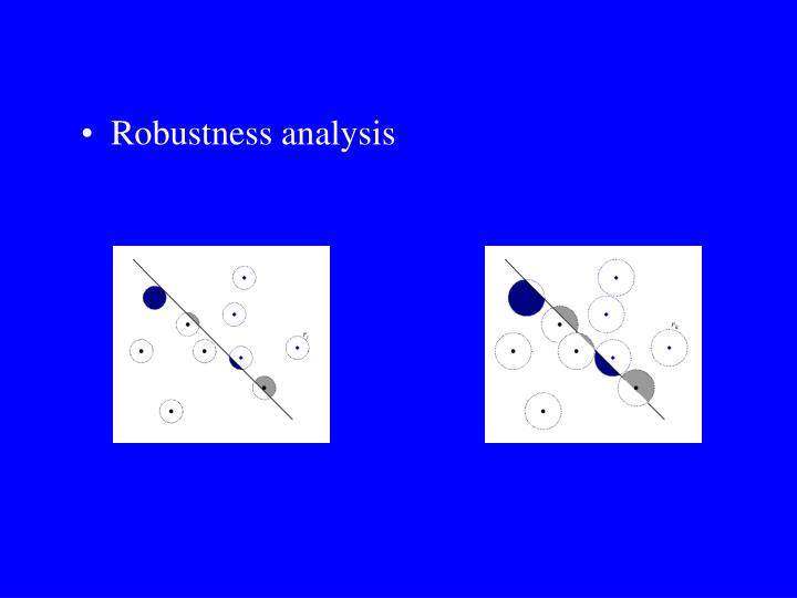 Robustness analysis
