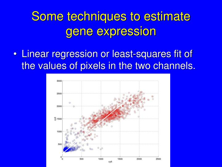 Some techniques to estimate gene expression