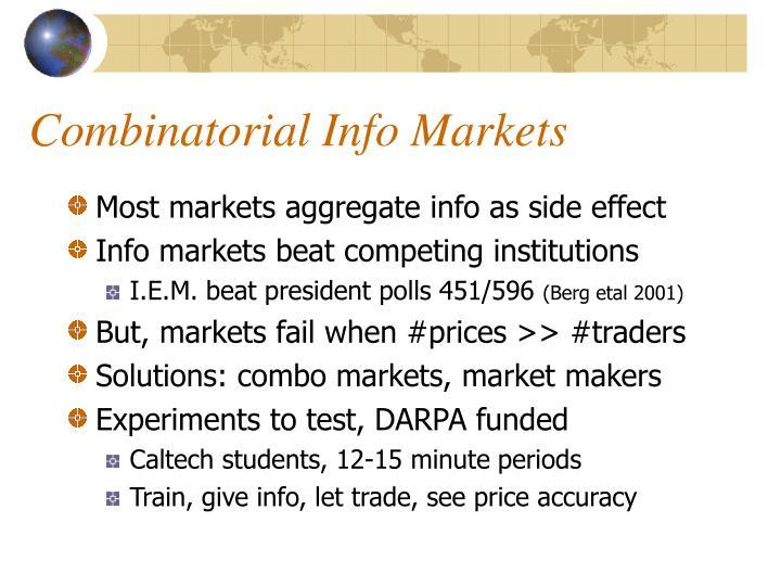 Combinatorial Info Markets