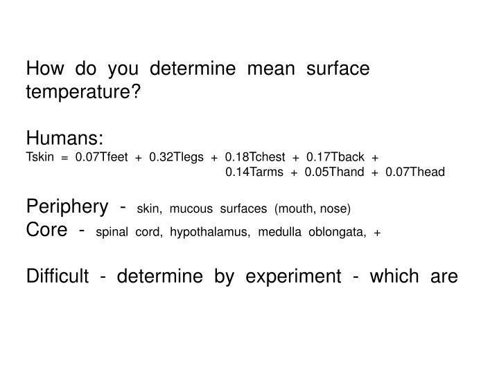 How  do  you  determine  mean  surface