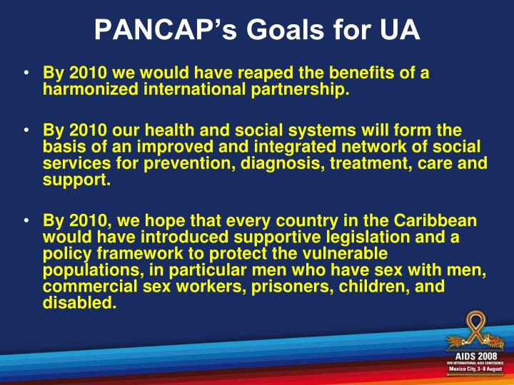 PANCAP's Goals for UA