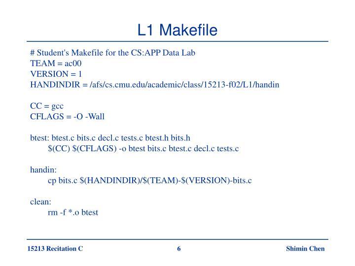 L1 Makefile