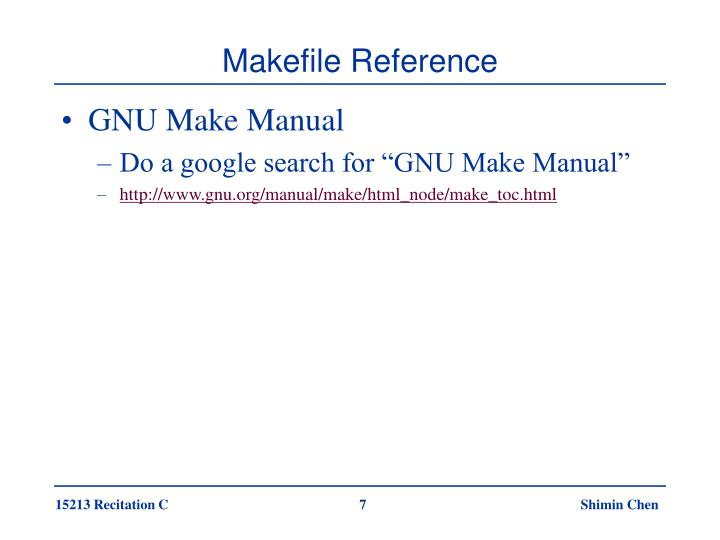 Makefile Reference
