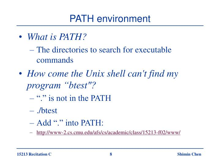 PATH environment