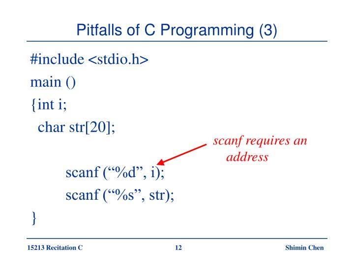 Pitfalls of C Programming (3)