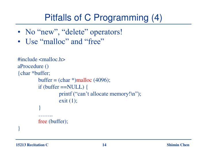 Pitfalls of C Programming (4)