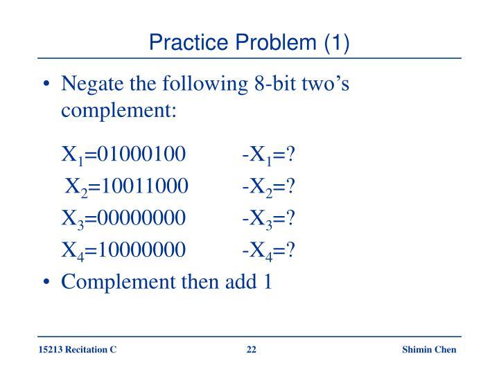Practice Problem (1)