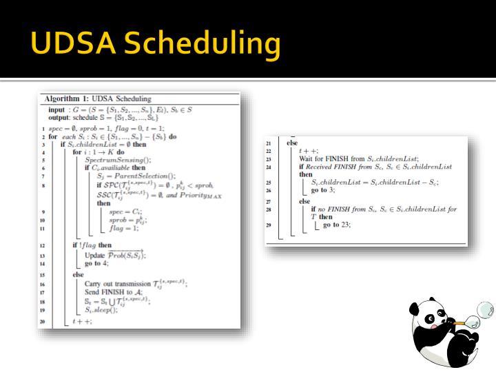 UDSA Scheduling