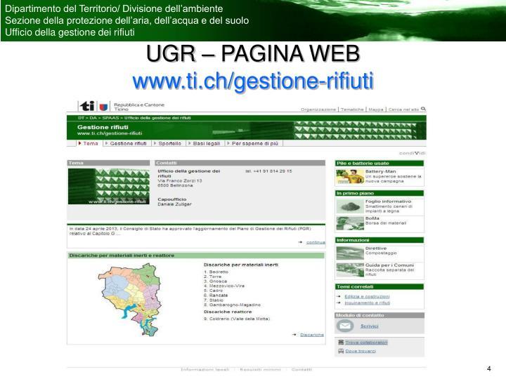 UGR – PAGINA WEB
