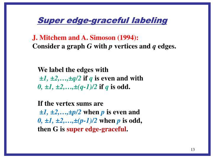 Super edge-graceful labeling