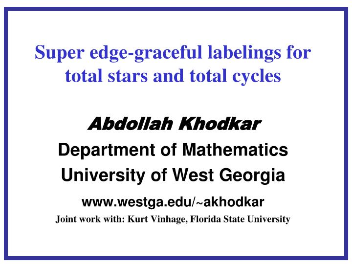 Super edge graceful labelings for total stars and total cycles