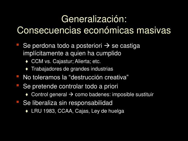 Generalización: