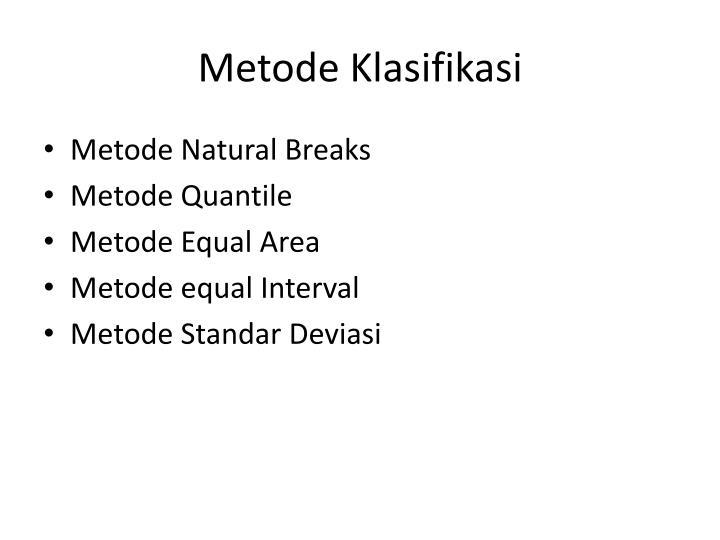 Metode Klasifikasi