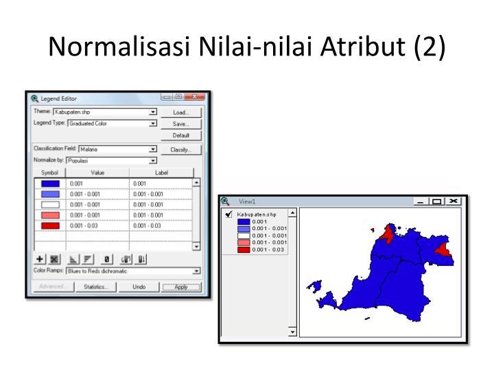 Normalisasi Nilai-nilai Atribut (2)