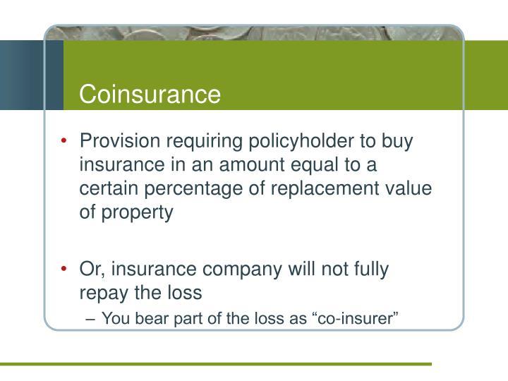 Coinsurance