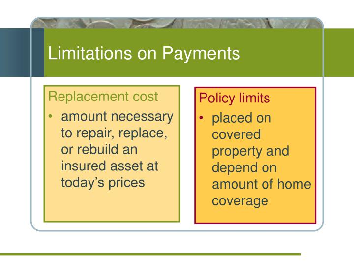 Limitations on Payments