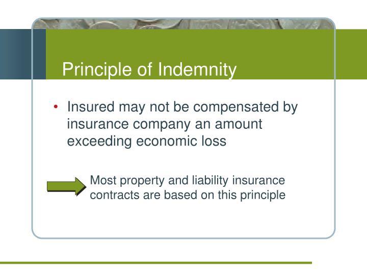Principle of Indemnity