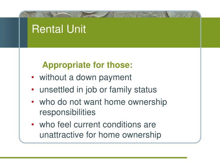Rental Unit