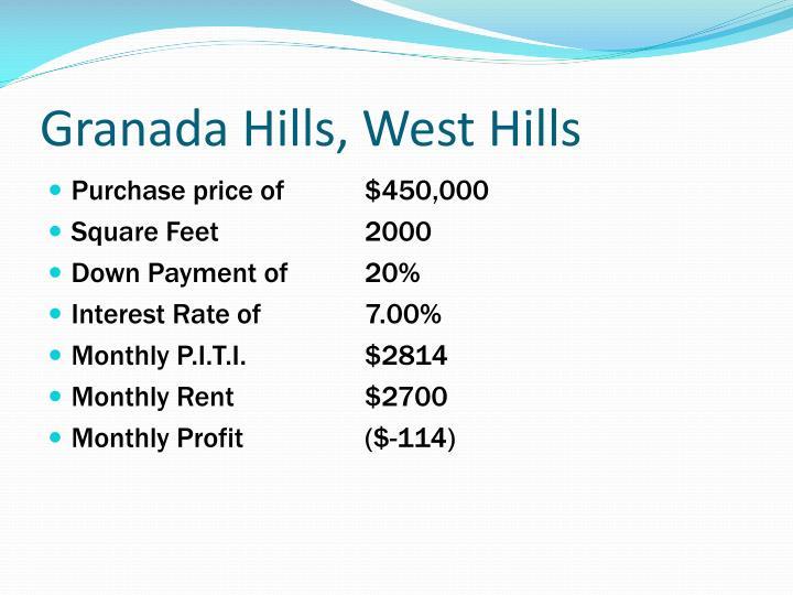 Granada Hills, West Hills