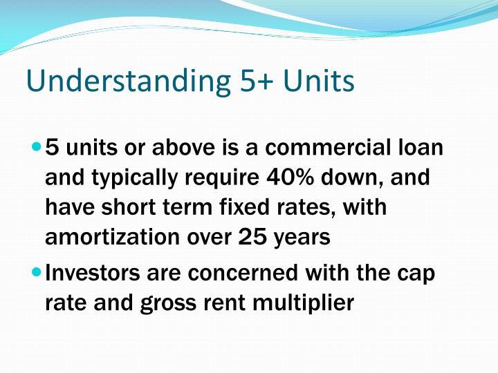 Understanding 5+ Units