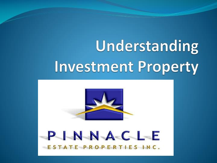 Understanding investment property