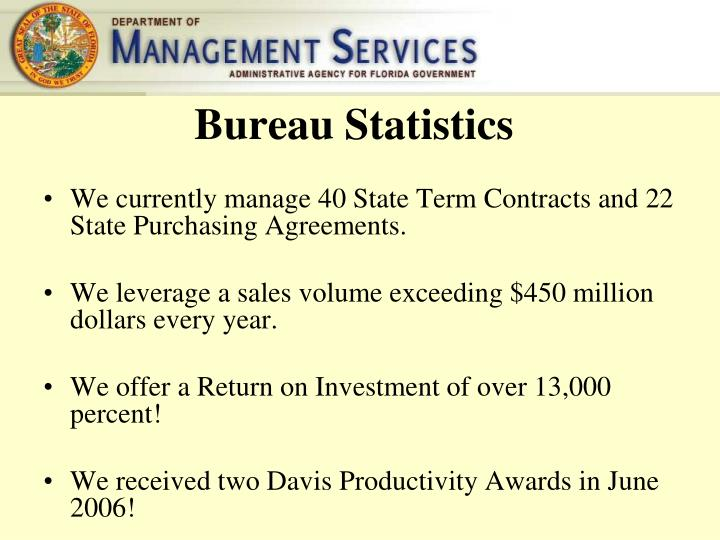 Bureau Statistics