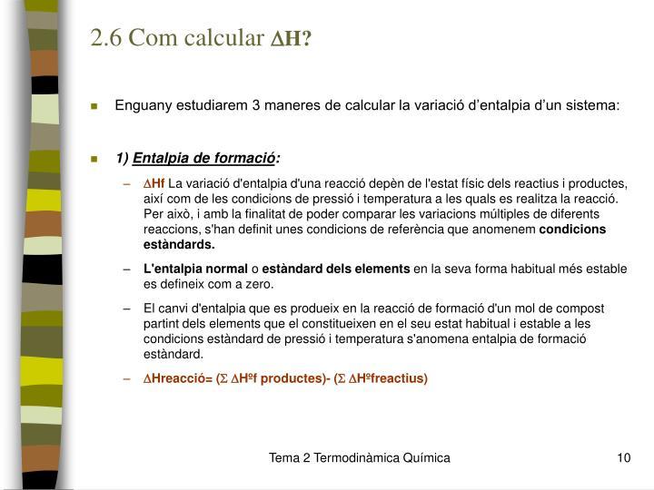2.6 Com calcular