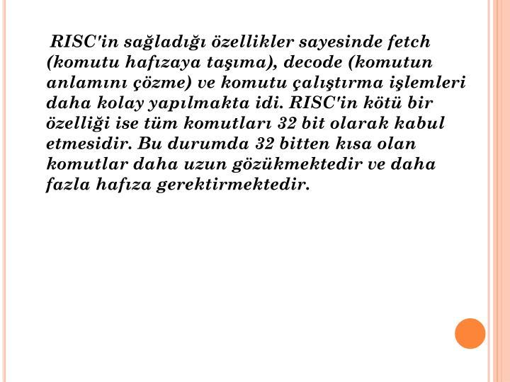 RISC'in