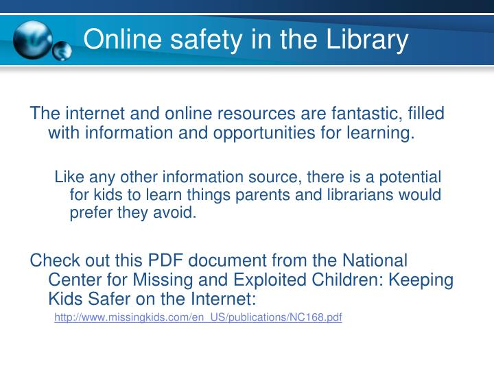 Online safety in the Library